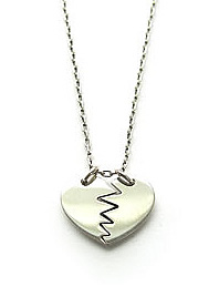 Preview of Broken Heart Necklace in sterling silver.