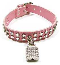 Preview of the Double Rhinestone Padlock Choker.