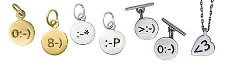 Preview of the Smiley Collection of emoticon jewelry.
