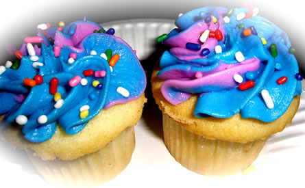 Preview of Purple and Blue cupcakes.